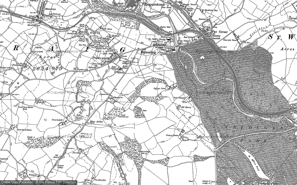 Old Map of Bassaleg, 1899 - 1900 in 1899