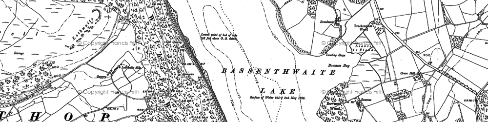 Old map of Barkhouse in 1898