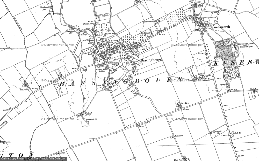 Old Map of Bassingbourn, 1885 - 1901 in 1885