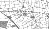 Old Map of Bassingthorpe, 1887