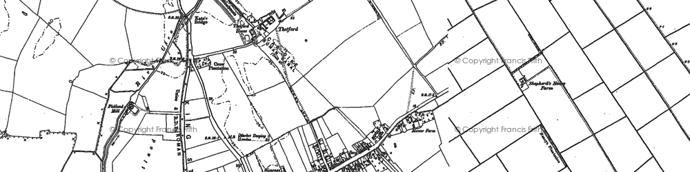 Old map of Baston in 1886