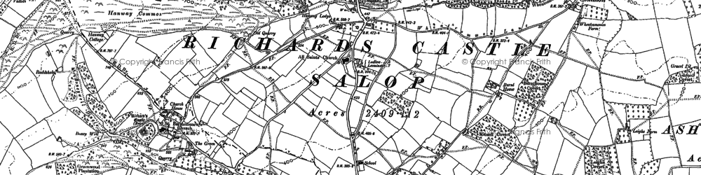 Old map of Woodcroft in 1884