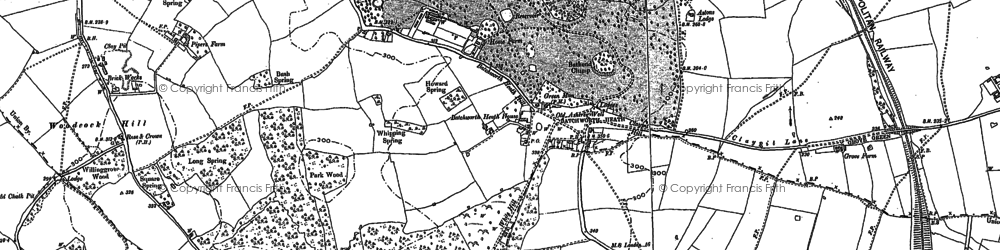 Old map of Woodcock Hill in 1894