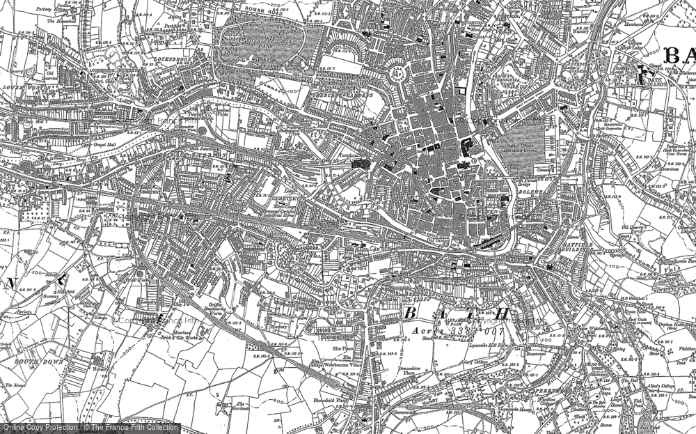 Map Of Bath Area Old Maps of Bath   Francis Frith