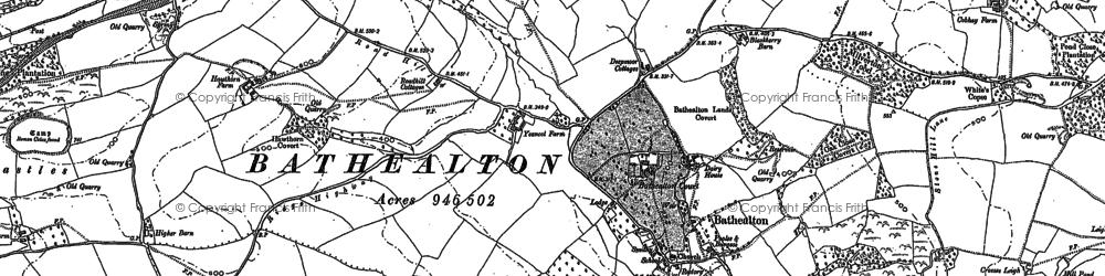 Old map of Bathealton in 1887