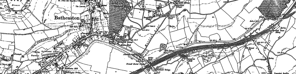 Old map of Batheaston in 1902