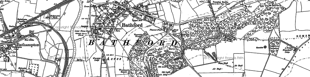 Old map of Bathford in 1902