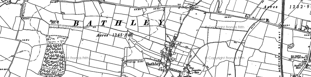 Old map of Worner Wood in 1884