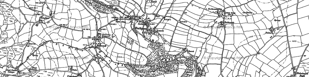 Old map of Botternell in 1882