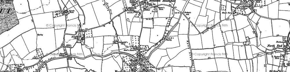 Old map of Bathpool in 1887