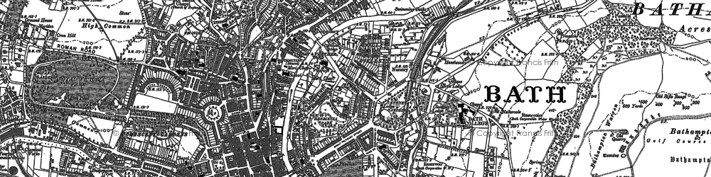 Old map of Bathwick in 1902