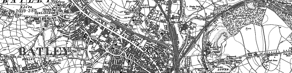 Old map of Batley in 1882