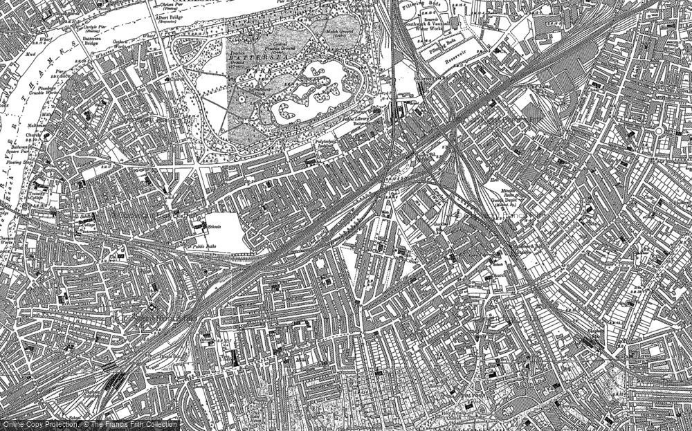 Map of Battersea, 1894 - 1895