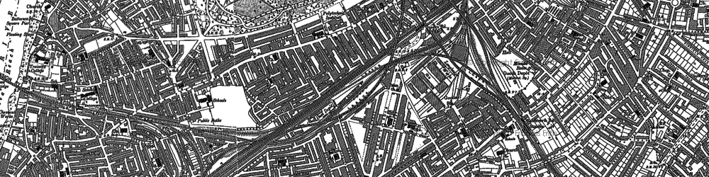 Old map of Battersea in 1894