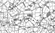 Old Map of Battisford, 1884