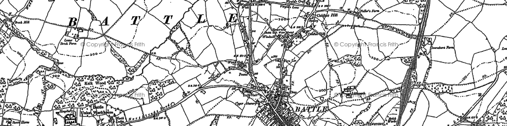 Old map of Battle in 1897