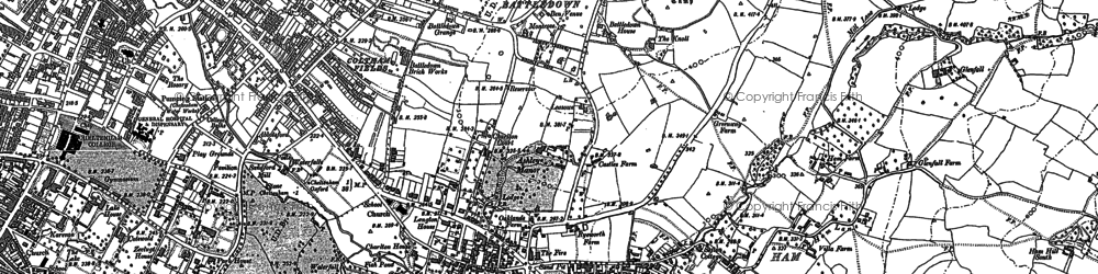 Old map of Whaddon in 1883