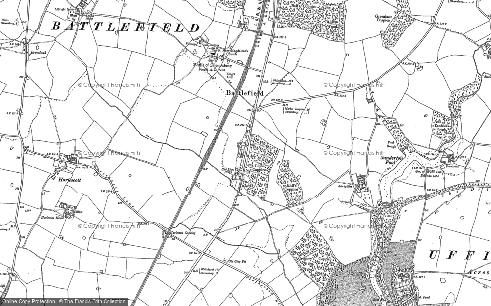 Old Map of Battlefield, 1881 in 1881