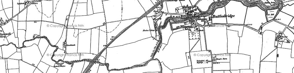 Old map of Battlesbridge in 1895