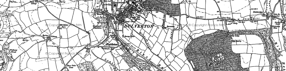 Old map of Battleton in 1902