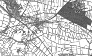 Old Map of Bawdrip, 1885 - 1886
