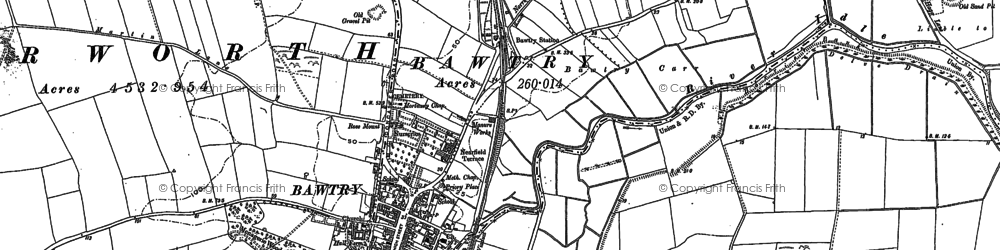 Old map of Bawtry in 1901