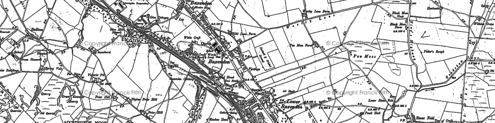 Old map of Baxenden in 1891