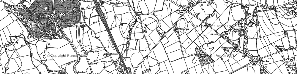 Old map of Bay Horse in 1910