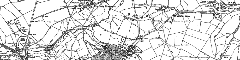 Old map of Bayford in 1885