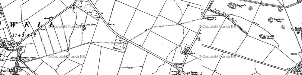 Old map of Baynard's Green in 1881