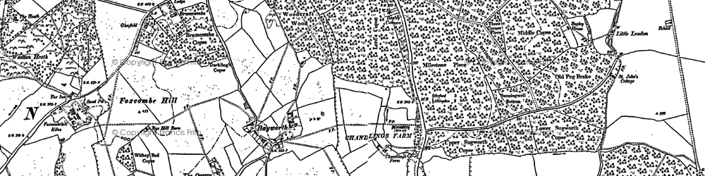 Old map of Bayworth in 1910
