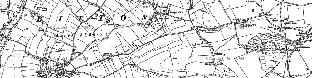 Old map of Beach in 1901