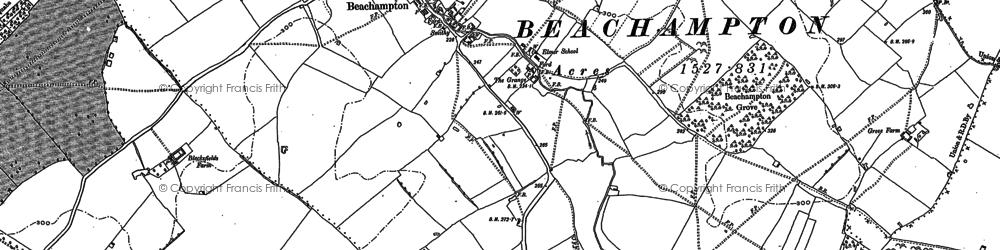 Old map of Beachampton in 1898
