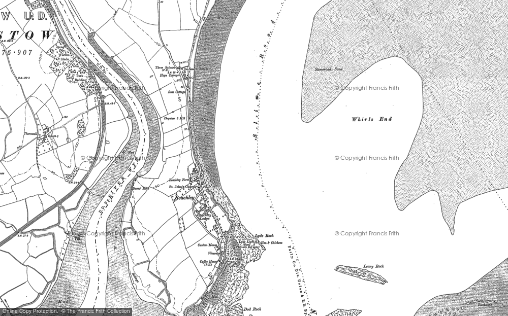 Old Map of Historic Map covering Whirls End in 1900