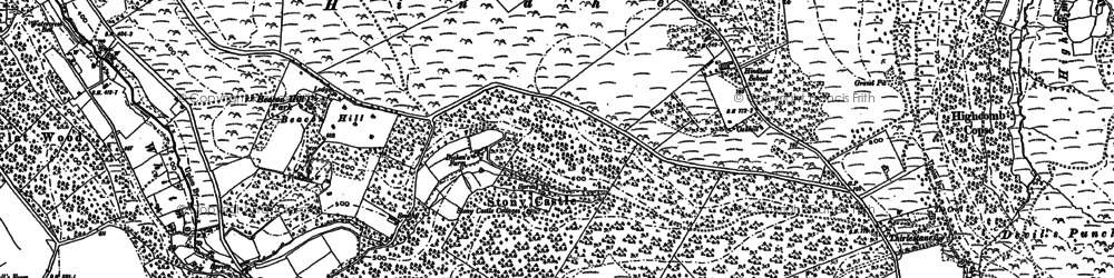 Old map of Beacon Hill in 1913