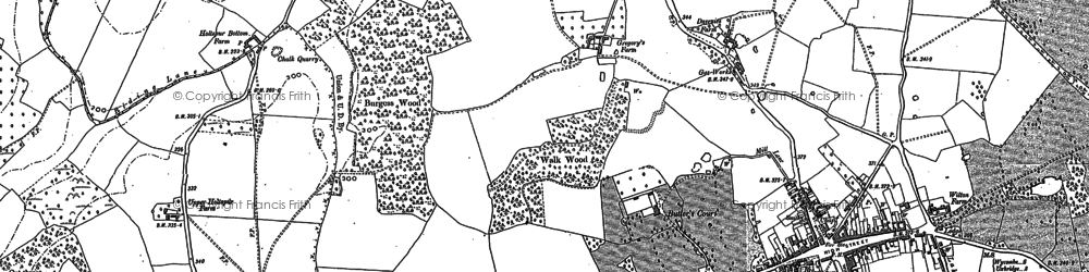 Old map of Beaconsfield in 1897