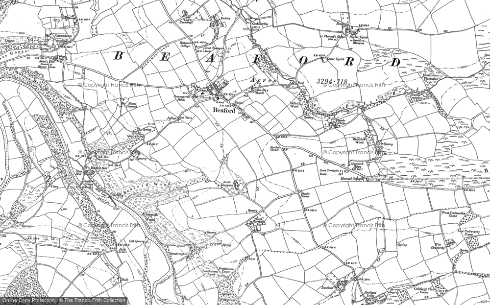 Old Map of Historic Map covering Ashwell in 1885