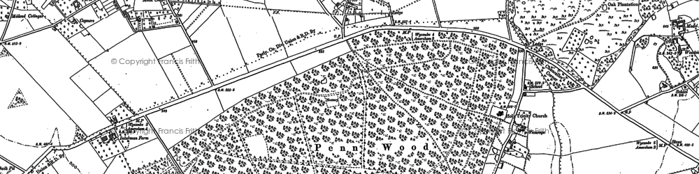 Old map of Beamond End in 1897