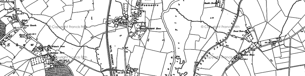 Old map of Beanacre in 1899