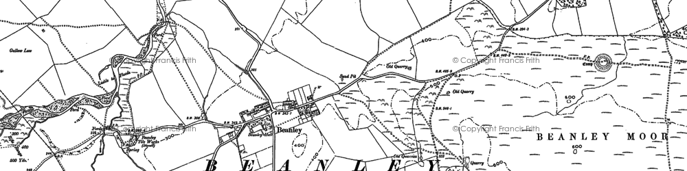 Old map of Titlington Pike in 1896