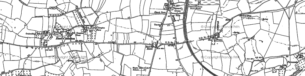 Old map of Beardly Batch in 1884