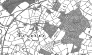 Old Map of Bearley, 1885
