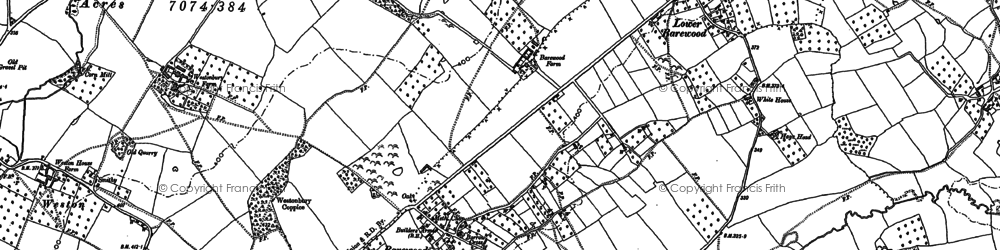 Old map of Tibhall in 1885