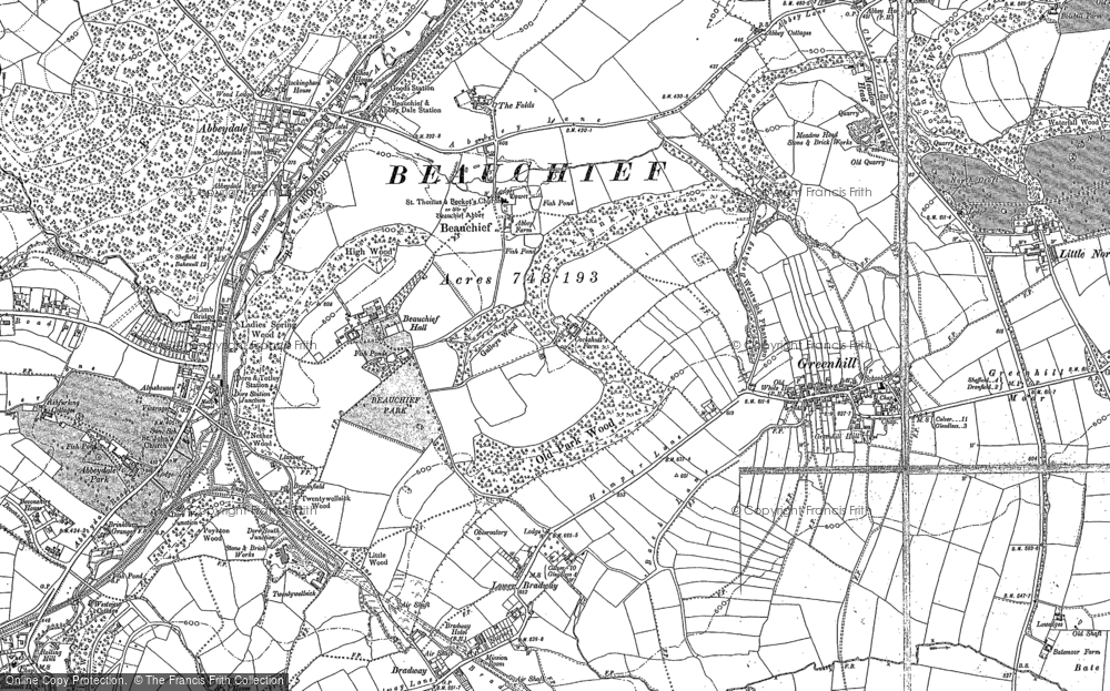 Old Map of Historic Map covering Abbeydale in 1896