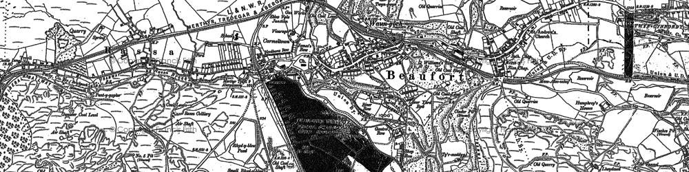 Old map of Beaufort in 1879