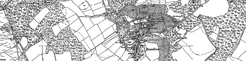 Old map of Bailey's Hard in 1895