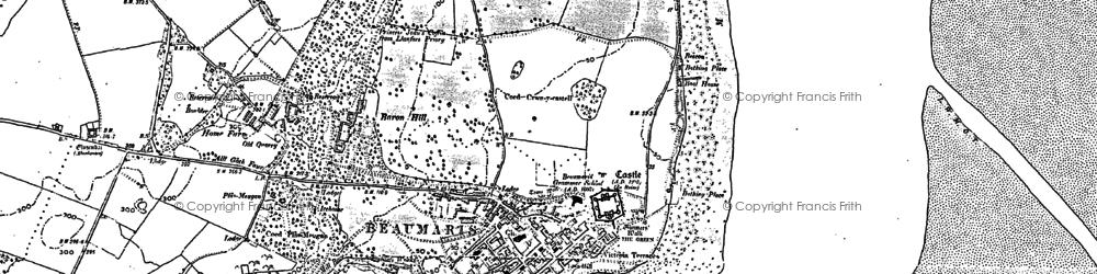 Old map of Lavan Sands in 1888