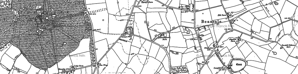 Old map of Beausale in 1886