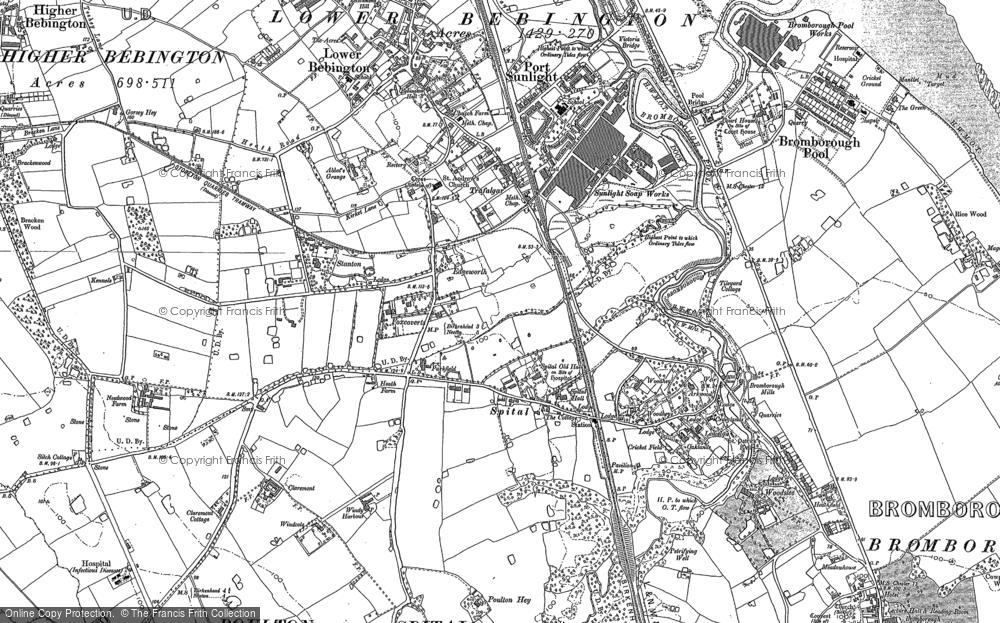 Old Map of Bebington, 1898 - 1909 in 1898