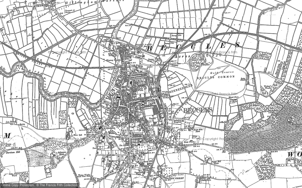 Old Map of Beccles, 1903 - 1904 in 1903